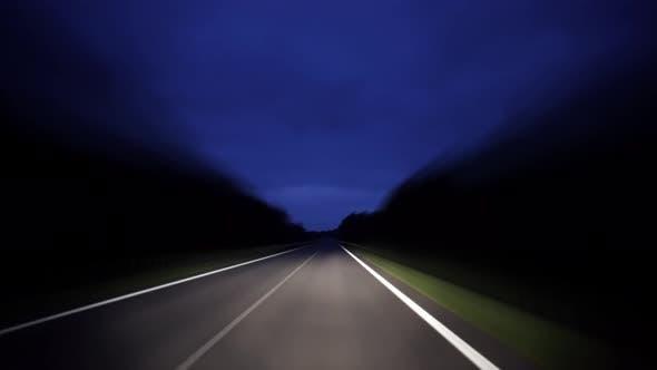 Rural Road Travel at Night