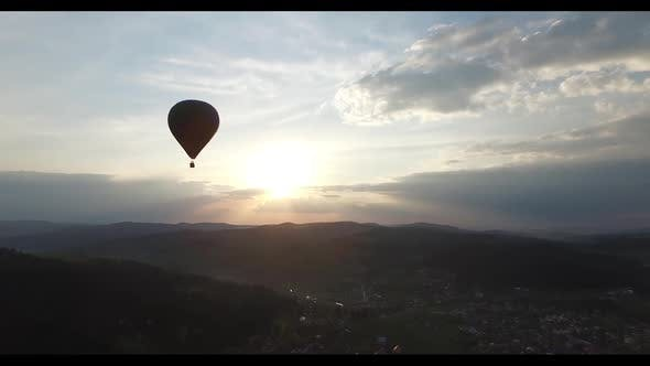 Thumbnail for Aerial View. Balloon in the Sunlight