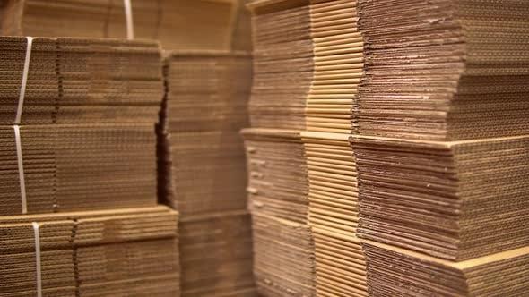 Cardboard in Warehouse