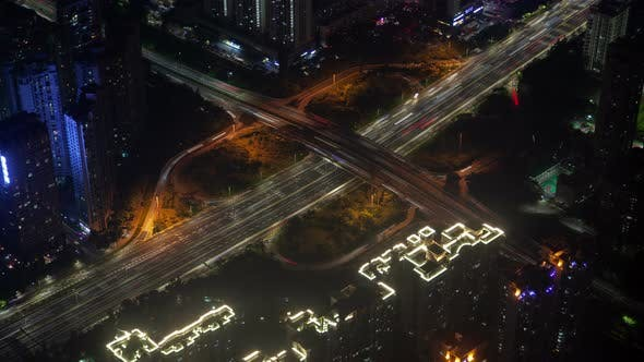 Thumbnail for Timelapse Shenzhen Junction with Heavy Traffic on Roads