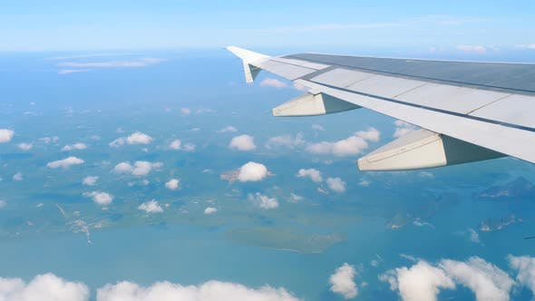 Thumbnail for Aerial View Landscape From Descending Airplane