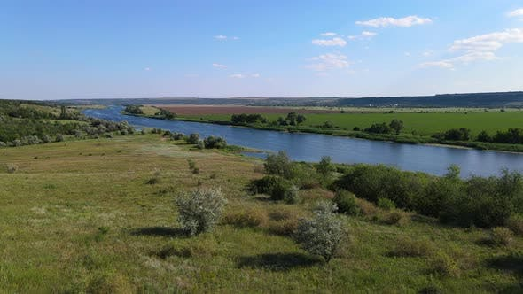 Thumbnail for Southern Bug River, Ukraine  Landscapes From Aerial View