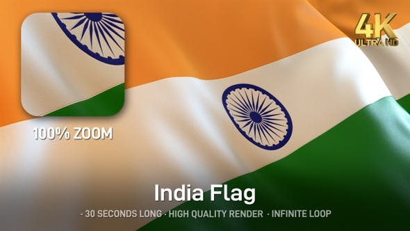 Thumbnail for India Flag - 4K