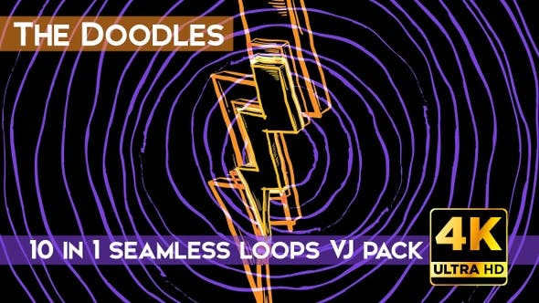 Thumbnail for The Doodles VJ Loops Pack