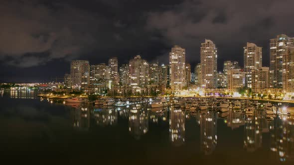 Thumbnail for Vancouver Skyline At Night Time Lapse