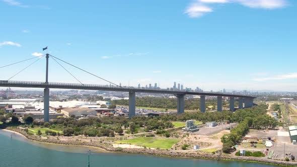 Thumbnail for Traffic Bridge City - Drone Shot 17