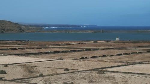 Salinas de Janubio view with lagoon, Lanzarote