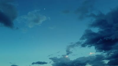 Clouds timelapse with blue sky