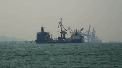 Cargo Shipping Freighter
