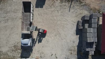 Construction Material Truck Forklift Drone