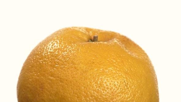 Thumbnail for Ripe Orange Isolated on White, Close Up, Rotation