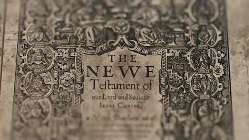 New Testament, Slider Shot, Old Paper Bible, King James Bible