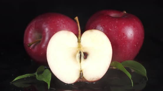 Thumbnail for Red Apples with Cool Steam. The Apples in the Fridge.