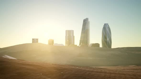 Thumbnail for City Skyscrapes in Desert
