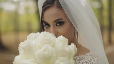 Wedding Bouquet in the Hands of the Bride, Wedding Day, Engagement