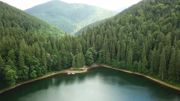 Cover Image for Lake Among The Carpathian Mountains From The Height Of Bird Flight