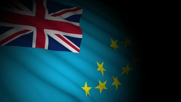 Cover Image for Tuvalu Flag Blowing in Wind