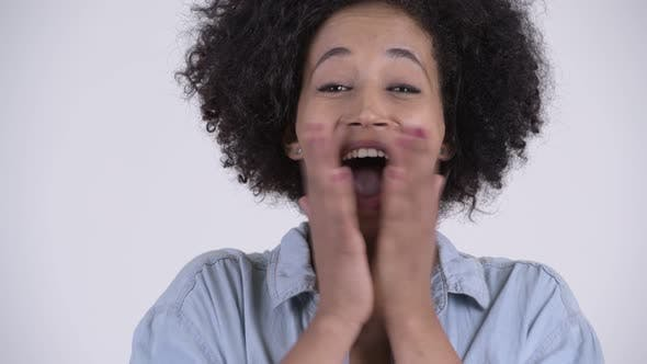 Thumbnail for Face of Young Happy African Woman Looking Surprised
