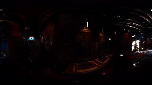 VR360 View of Abandoned Public Toilet