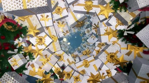 Thumbnail for Christmas Gift Box Art Deco 03 HD