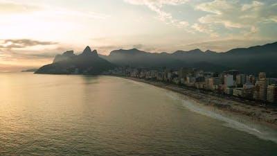 Beautiful Panorama of Rio De Janeiro at Twilight Brazil