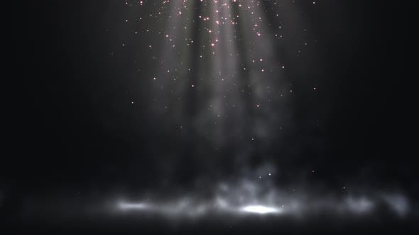 Christmas Rays With Particles Loop
