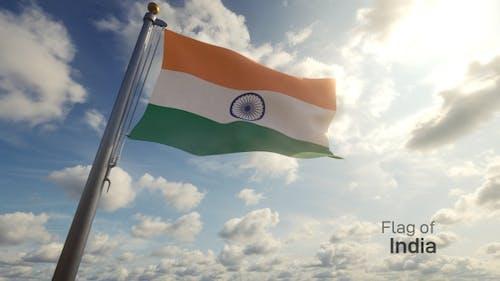 India Flag on a Flagpole