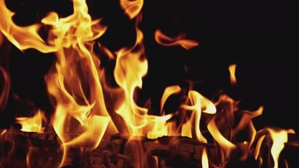 Thumbnail for Burning Fire on Black Background