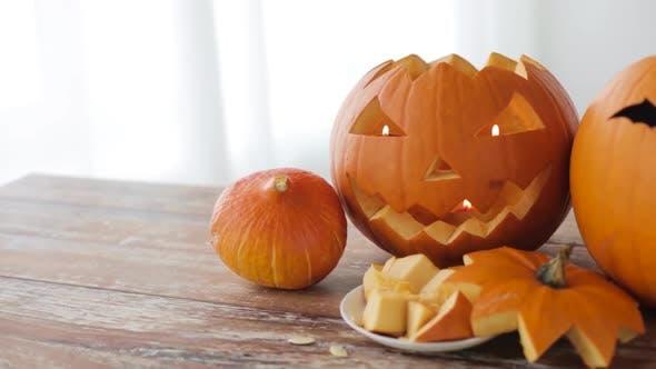 Thumbnail for Jack-o-lantern or Carved Halloween Pumpkins