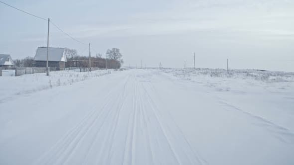 Thumbnail for Driving in Rural Area in Winter