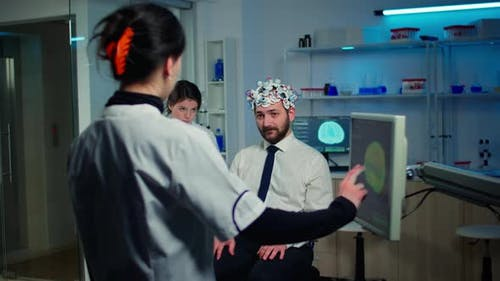 Medical Doctor Testing Physical Reactions and Nervous System of Man
