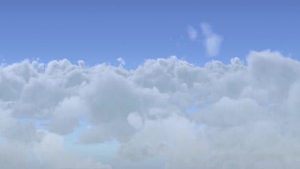 Thumbnail for Ditally generated animation of moving clouds