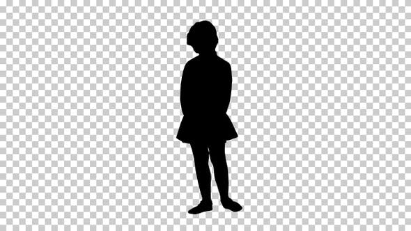 Thumbnail for Silhouette Girl, Alpha Channel