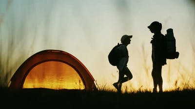 Family Camping in Nature