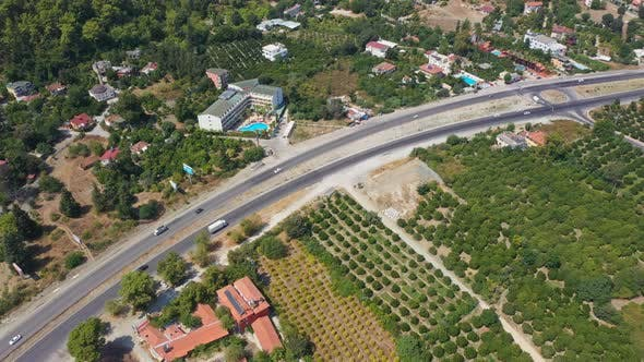 Thumbnail for Aerial View Road Near Mountains Turkey