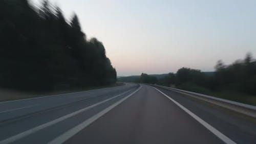Road Hyper Lapse Sweden