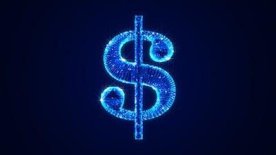 Currency Dollar Symbol Hologram