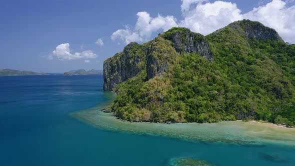 Thumbnail for Aerial View of Lagen Island. El Nido, Palawan, Philippines. Paradise Tropical Shore with Azure