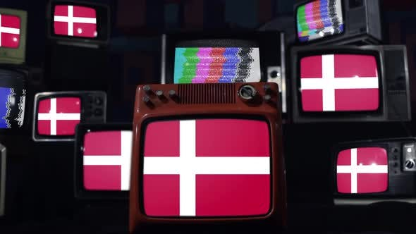 Thumbnail for Denmark flags and retro Televisions.