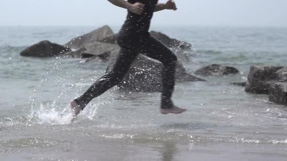 Thumbnail for Man Jogging at the Beach