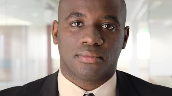 Thumbnail for Close up of serious African American businessman