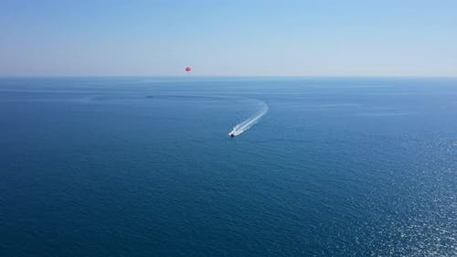 Parasailing In The Mediterranean Sea