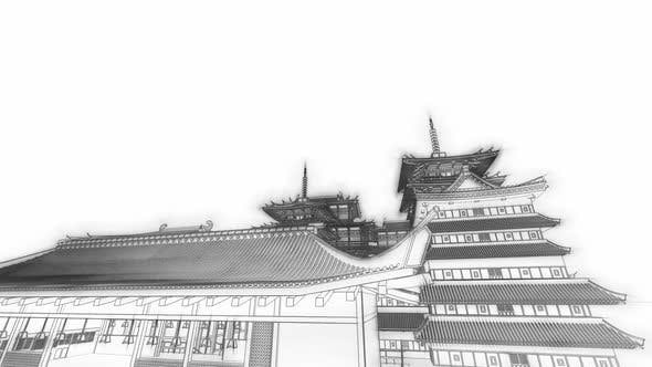 Thumbnail for Japan Architecture Sketch