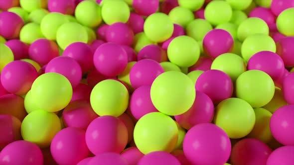 Thumbnail for Haufen gelber und rosa Kugeln