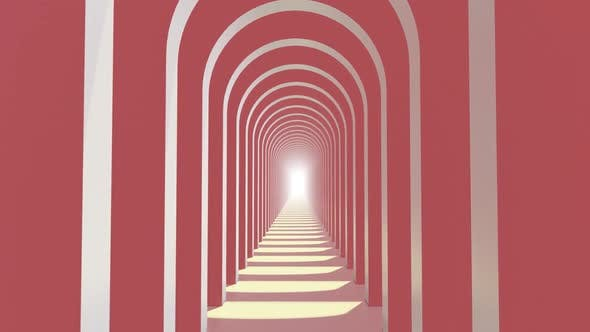 Thumbnail for In To Door Abstract Pastel Color Geometry Tunnel 01 HD
