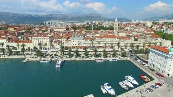 Thumbnail for Aerial view of marina in Split, Croatia
