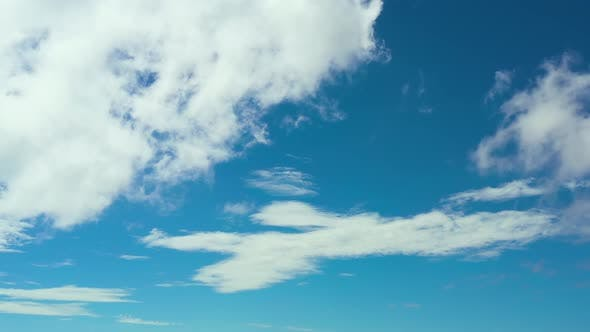 Blue Sky with Clouds Aerial Landscape