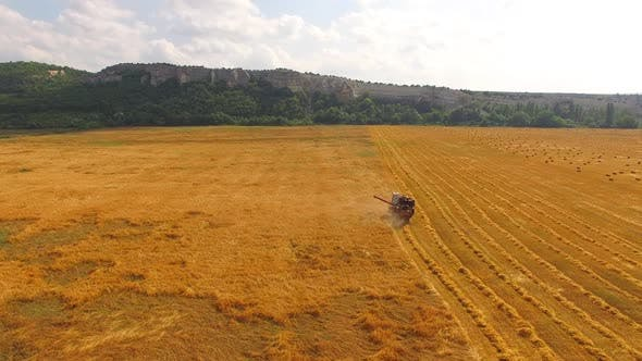 Thumbnail for The Combine Travels to the Field and Collects Wheat