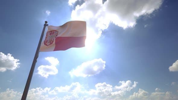 Thumbnail for Frankfurt am Main City Flag on a Flagpole V4 - 4K