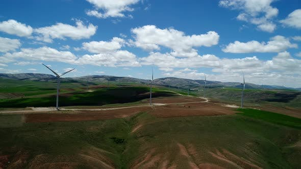 Thumbnail for Aerial View Of Windmills